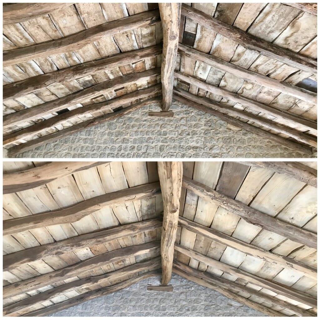 Travi in legno antico prima e dopo la sabbiatura - News, il fascino del legno antico di recupero