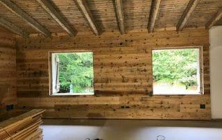 5 Riuso di tavole in abete antico prima patina come rivestimento interno in una nuova costruzione 320x202 - News, il fascino del legno antico di recupero